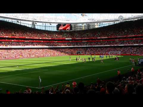 Emirates Cup 2014 | Arsenal Entrance & Line-Up vs Monaco