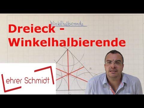 Dreieck - Winkelhalbierende konstruieren   Geometrie   Mathematik   Lehrerschmidt