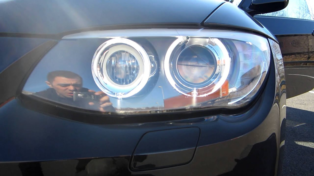 2013 Bmw Headlights Angel Eyes Setup 328xi 328i X Drive