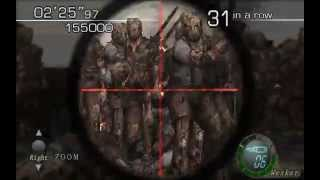 Resident Evil 4 - The Mercenaries (Welcome To Hell) Mode - WaterWorld - Wesker (816.500) HQ