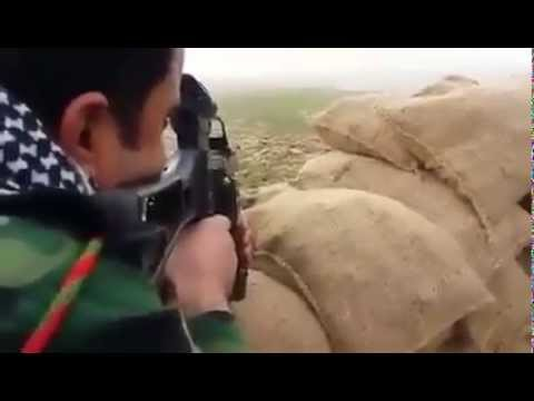 Iraqi Peshmerga Fighter killed a ISIS suicide Bomber Out of Erbil Kurdistan Border