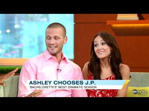 'Bachelorette' Ashley Hebert Chooses J.P. Rosenbaum, Couple Discuss Tense Finale on 'GMA'