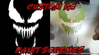 RC Car Paint Stencils - Make Your Own! - Axial Bomber Venom Paint Scheme