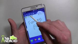 How to use Action Memo on the Samsung Galaxy Note 3