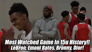 LeBron Watches Emoni Bates vs Bronny James, Dior Johnson & Skyy Clark!! Emoni 46 Points, SFG Wins!