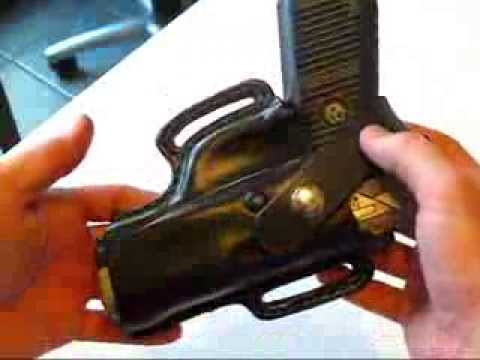 Making a Custom Leather Holster For a Ruger P95