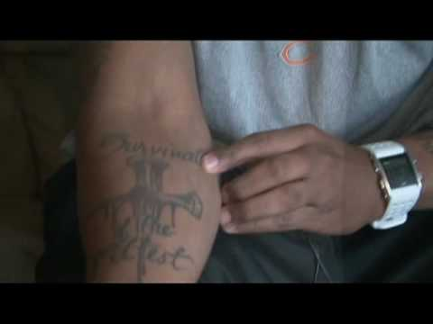 Tattoo U: Inking of Chicago Bears' Fontell Mines