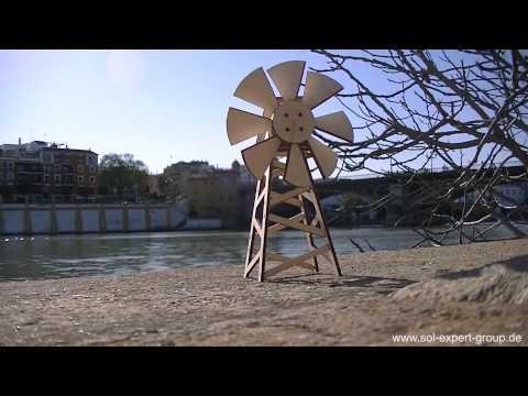 SOL-EXPERT Amerikanische Solar Windmühle