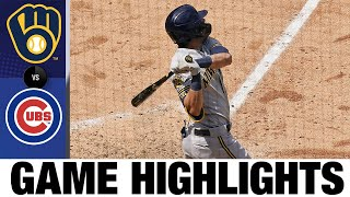 Christian Yelich homers in 8-3 win vs. Cubs | Brewers-Cubs Game Highlights 7/25/20