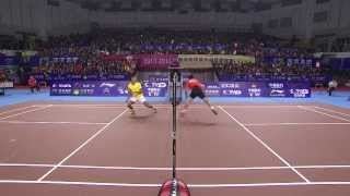 [HD] 2013.12.26 - MS - Tian Houwei vs Lin Dan - China Badminton Super League