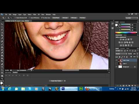 Photoshop CS6 Acne Removal Photography Retouching Tutorial