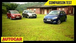 Hyundai Elite i20 VS Maruti Suzuki Swift VS Volkswagen Polo | Comparison Test | Autocar India