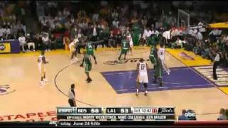 Lakers running triangle offense in NBA Finals 2010