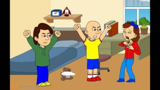 Caillou's Mom Destroy Caillou's Teddy Bear And Gets Grounded/Caillou Gets Ungrounded