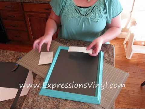 Chalkboard Vinyl Note Board Project
