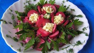 Красивые по оформлению салаты