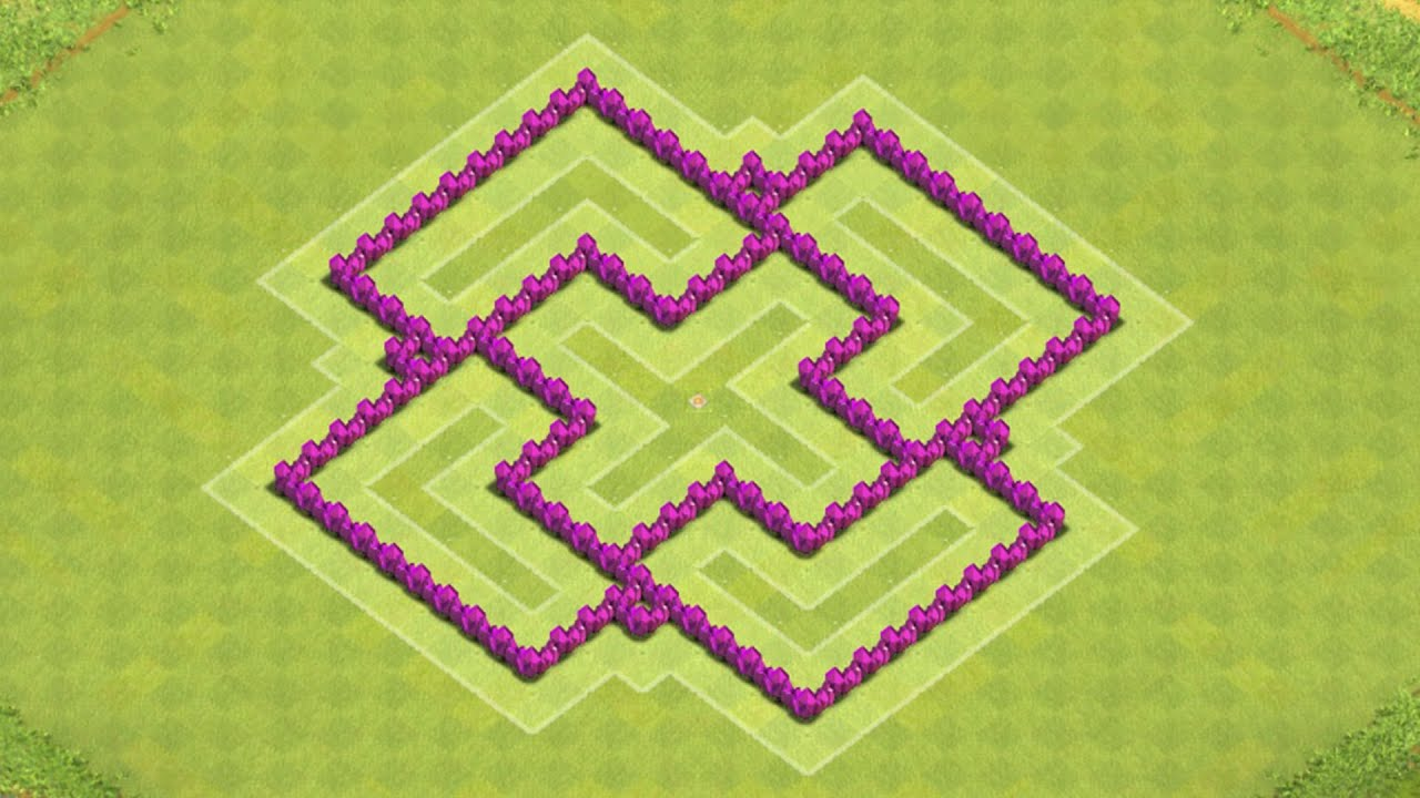 Clash of clans town hall 6 defense best coc th6 hybrid base layout