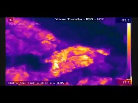 Graban con cámara infrarroja la erupción de un volcán en Costa Rica