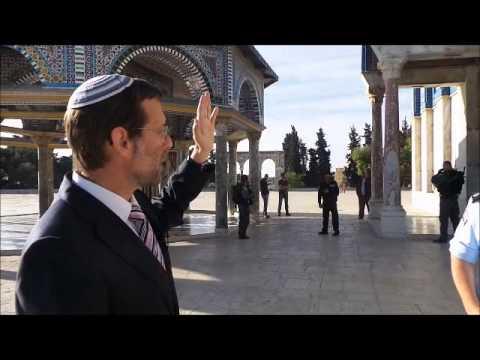 """עליית סגן יו""""ר הכנסת משה פייגלין להר הבית - ז' ניסן תשע""""ד - Feiglin Visits Temple Mt. April 7 '14"""