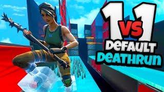 1 vs 1 DEFAULT DEATHRUN - Fortnite Creative (met TheDutchTerms)