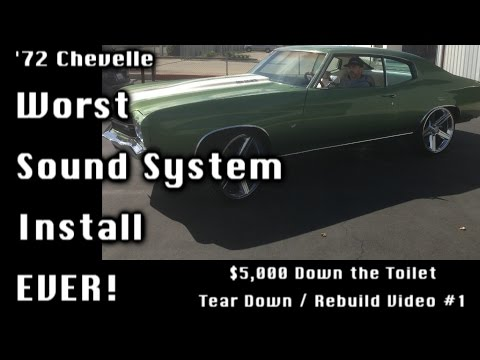 Worst Sound System Install (by a shop) Ever! 5 Grand Down the Toilet (Removal, Video 1)