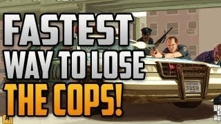 GTA 5 Online Lose Cops in Under 30 SECONDS! - GTA V FASTEST WAY to Escape from the Cops - Trick