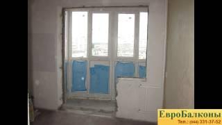 """Теплый балкон ч.2 """"французское пвх остекление балкона"""" - viy."""