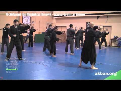 'Train at home' Ninjutsu throw drills, uchi komi- 13 december - Ninjutsu training AKBAN wiki Image 1