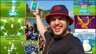 FINALLY HITTING LEVEL 40! (Pokémon GO Eevee Community Day)