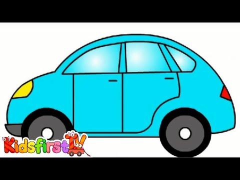 Smart Kids Learn Color Cartoons for Children 5: Coloured Cars [聪明的孩子创建具有彩色形状] ABC 123