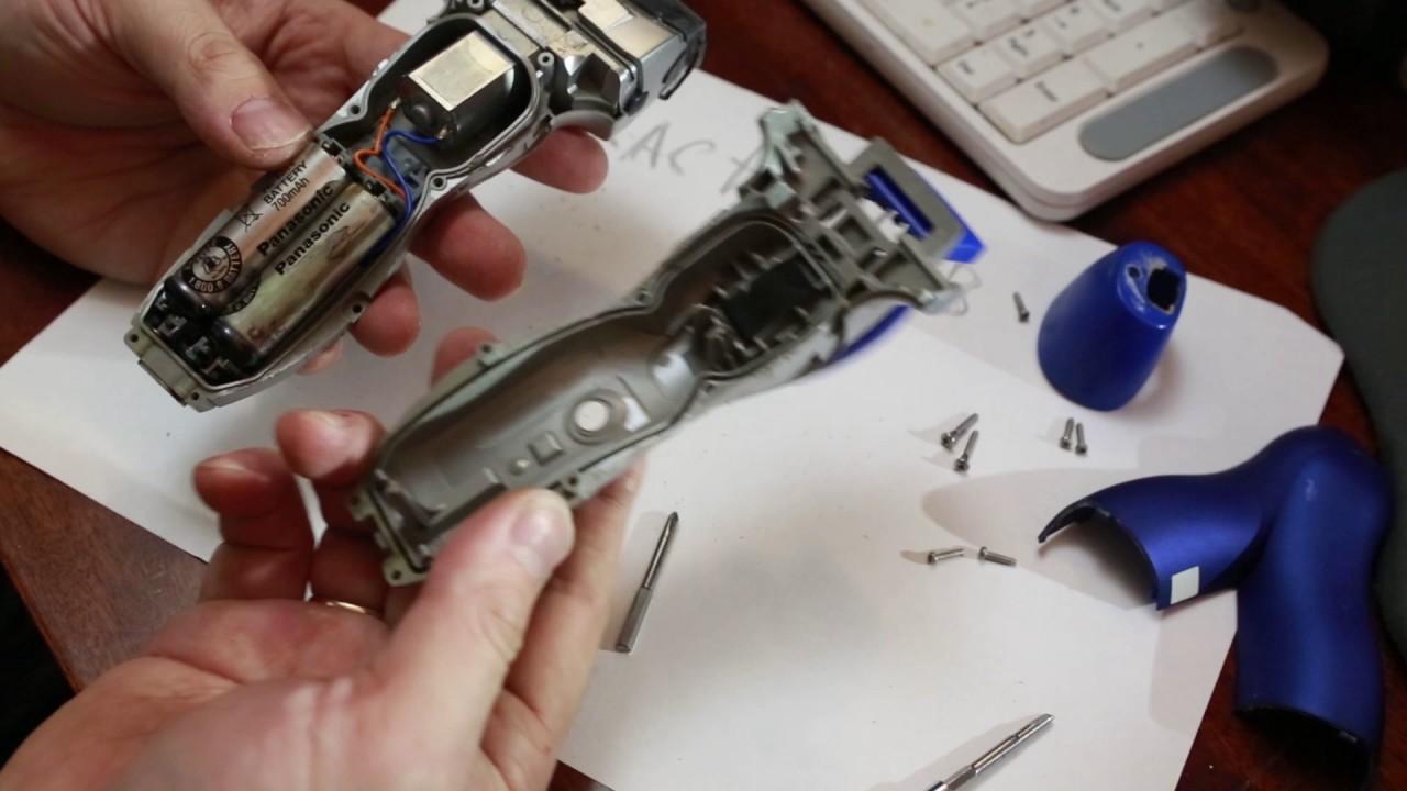 Ремонт электробритвы panasonic своими руками
