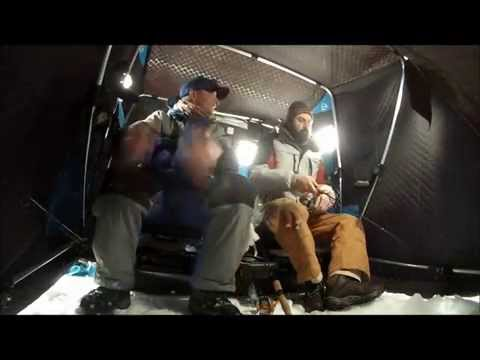 New Hampshire Ice Fishing #4 - Lake Winnipesaukee Lake Trout 2014