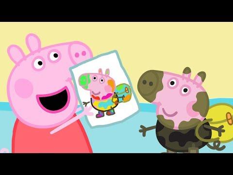 Свинка Пеппа на русском все серии подряд |  картина  | Мультики