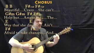 Beautiful Crazy (Luke Combs) Guitar Cover Lesson in B with Chords/Lyrics