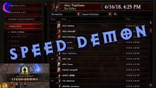Diablo III Season 14 - Speed Demon Conquest