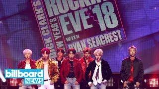 BTS Perform 'Mic Drop' & 'DNA' on 'New Year's Rockin' Eve'   Billboard News