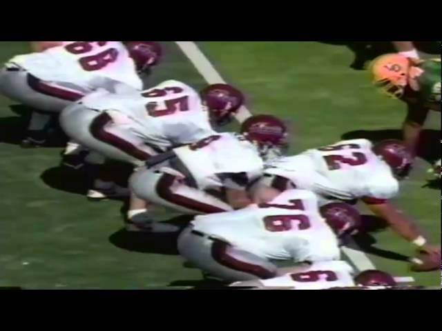 Oregon DE Matt LaBounty sacks NMSU QB David Chisa 10-05-1991