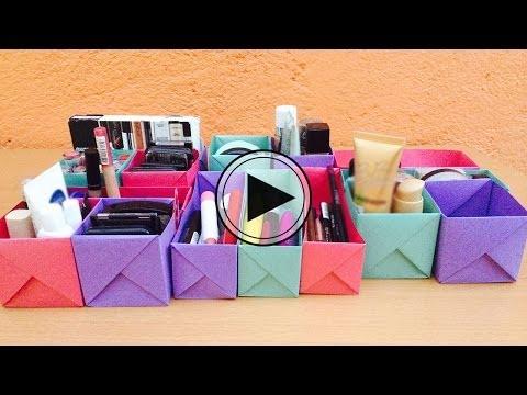 Organiza tu maquillaje con hojas de papel // BigCrafts