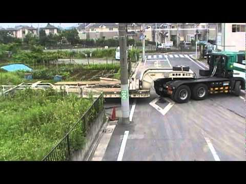 16輪ステアリングトレーラーの検証 株式会社江北重機運輸