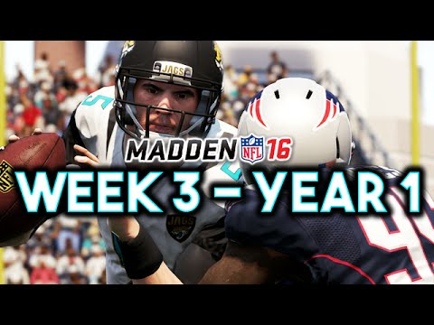 Madden 16 Jaguars Connected Franchise Year 1 - Week 3 @ Patriots (Ep.4)