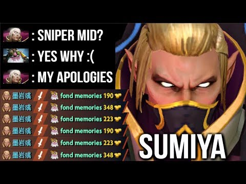 SumiYa Invoker Legend! How To DELETE Sniper Mid EZ! Craziest Combo vs Invisible Epic Gameplay Dota 2
