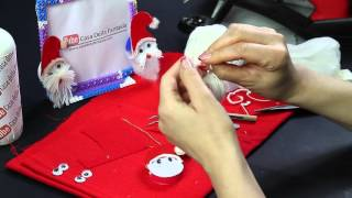 Video tutorial babbo natale con Occhi 3d Eyes 3d Santa Claus riciclo creativo ITA 1080p DIY
