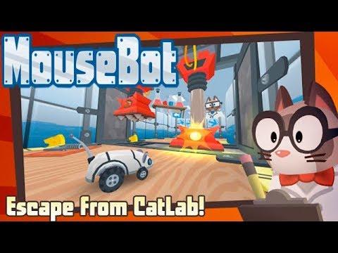 MouseBot Побег Мышки Робота из Лаборатории #1 Эксперимент Начинается! Детское игровое Видео