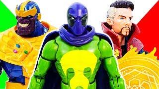 THANOS vs Mysterio Superhero Toys Battle ! Doctor Strange Appeared, Let's Use Magic, GO~! Toy Marvel