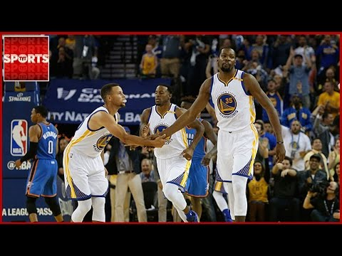 Warriors Blow Out Thunder | Curry and Durant Play PIG