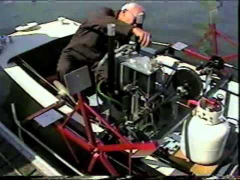 Stirling engine powered paddle boat. Built by Jim Tangeman in 1997