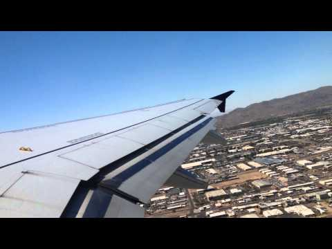US Airways Airbus A320-200 Take Off from Phoenix Sky Harbour International Airport