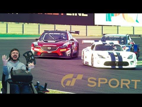 Жесткая заруба до последней капли топлива с кровожадными ботами в Gran Turismo: Sport