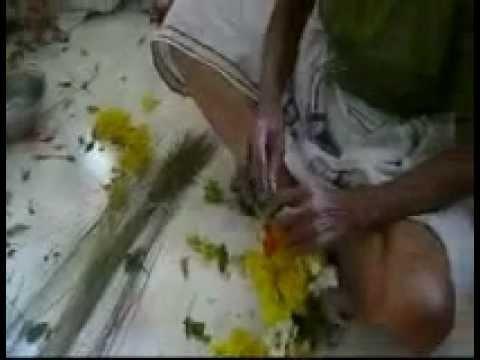Shivarathry garland making for thiruvanchikulam maha deva temple. DIY learn yourself