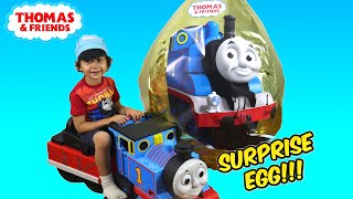 GIANT EGG SURPRISE OPENING Thomas and Friends Super Giant Golden Surprise Egg Biggest Surprise Egg